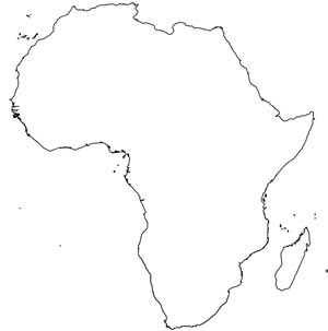 image about Blank Map of Africa Printable named Africa printable maps as a result of