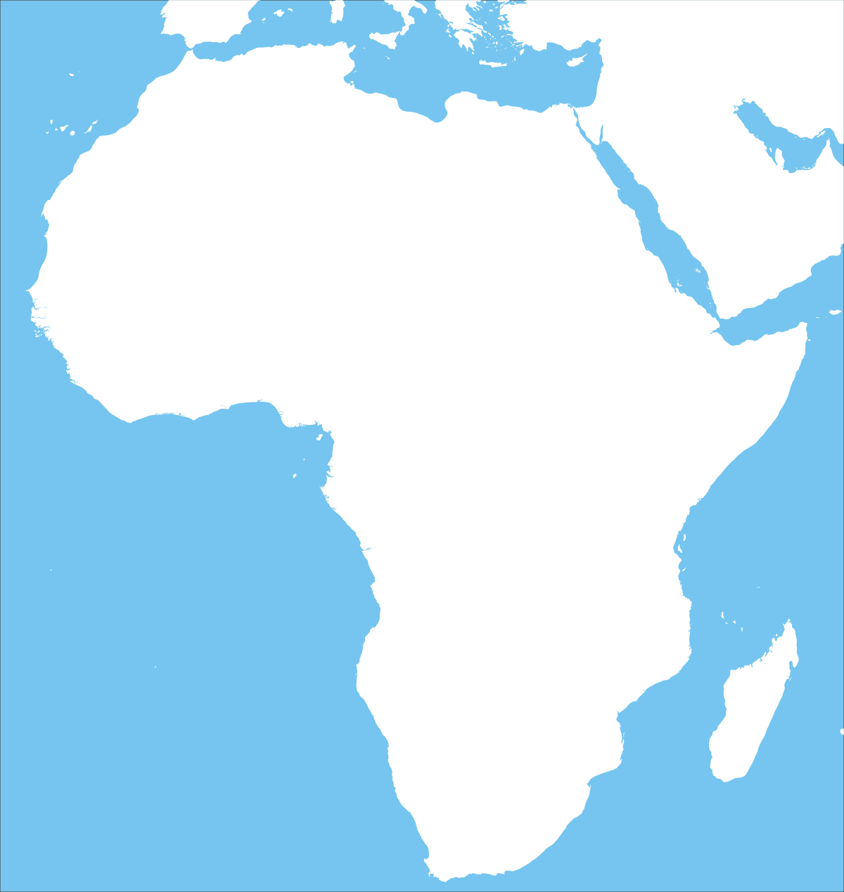 graphic regarding Printable Africa Map titled Africa printable maps through
