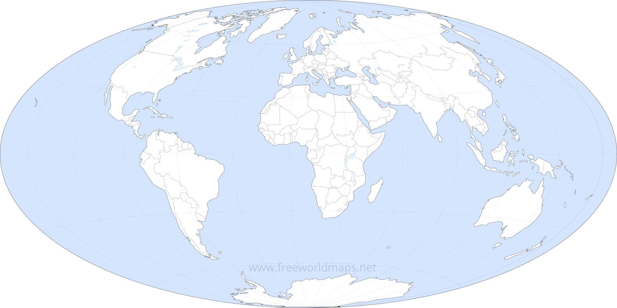 Free Printable World Maps