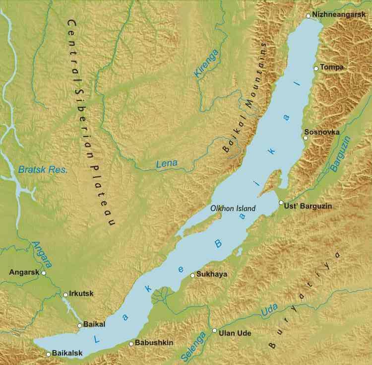 Lake Baikal maps on slavic russia map, ural mountains russia map, siberia russia map, lake ladoga russia map, volga river russia map, vladivostok russia map, lake balkhash russia map, mt. elbrus russia map, kalmykia russia map, caucasus mountains russia map, pechora river russia map, yamal peninsula russia map, tuva russia map, altai krai russia map, aral sea map, samarkand russia map, india russia map, novgorod russia map, north pole russia map,