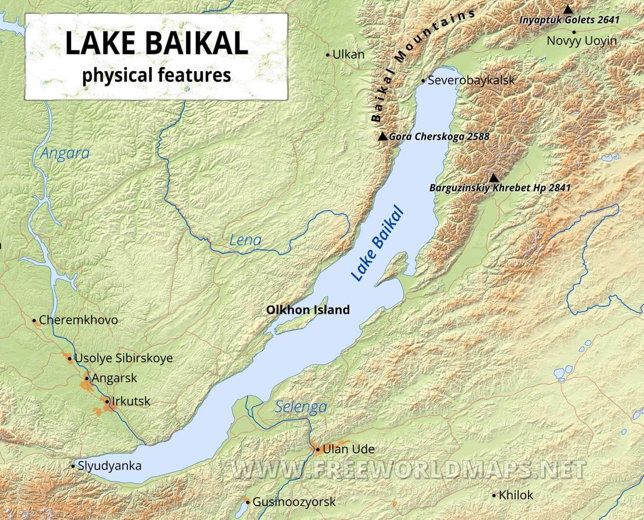 lake baikal on map Lake Baikal Maps lake baikal on map