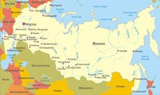 Physical Map Of Russia And Surrounding Countries