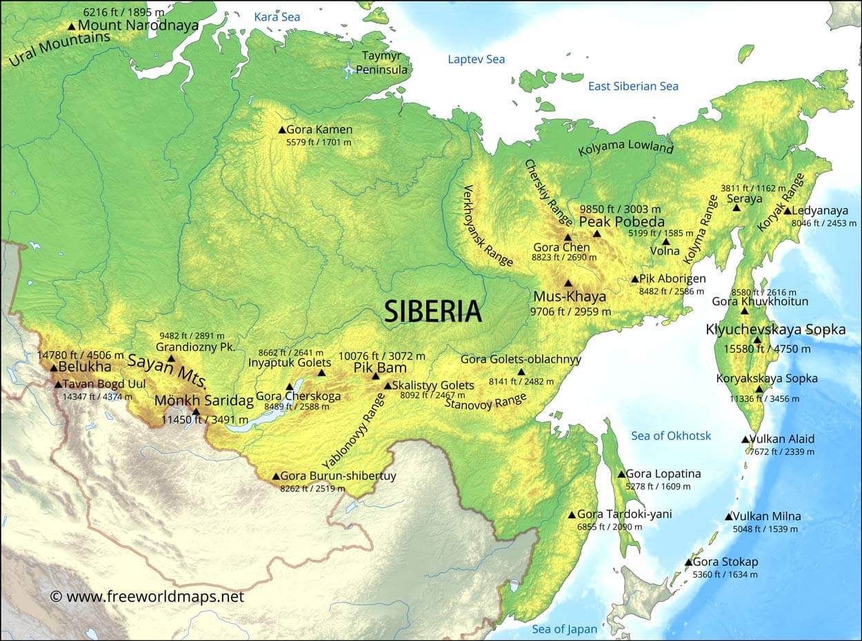 Picture of: Siberia Map