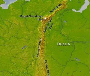 Russia Mountain Ranges By Freeworldmaps Net