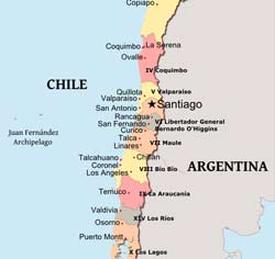 Maps Of Chile Chile Physical Map