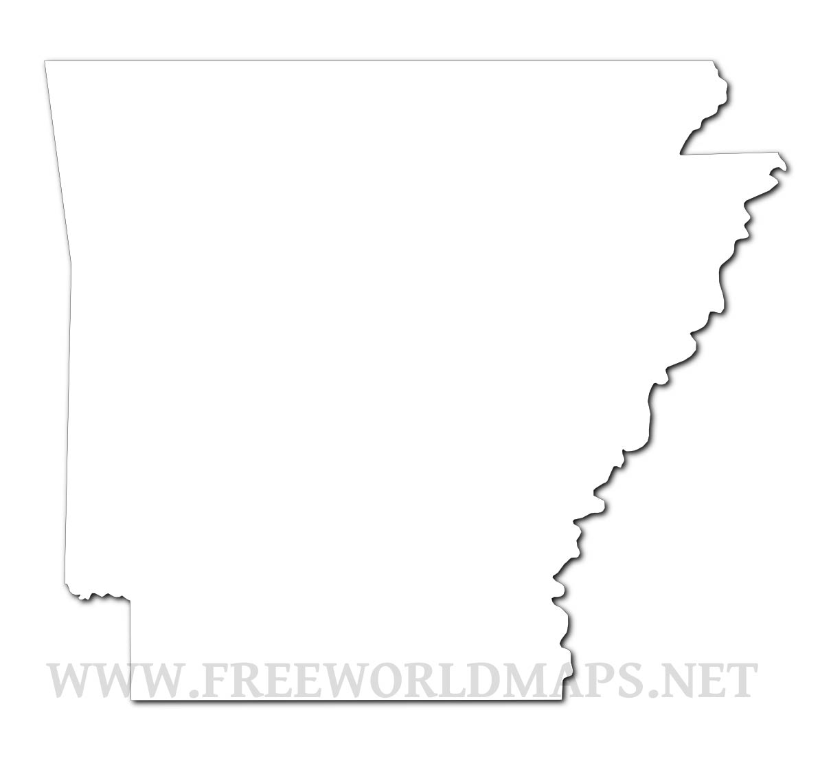 Image of: Arkansas Maps