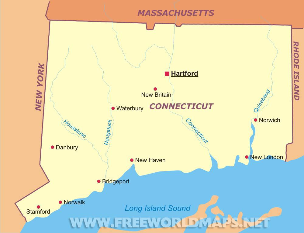 Connecticut maps