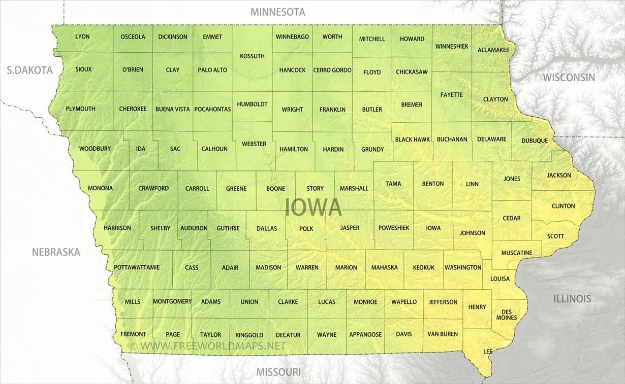 Physical map of Iowa on map of wisconsin, sioux center iowa, washington iowa, map of alabama, map of ohio, walnut iowa, altoona iowa, fremont iowa, ottumwa iowa, eldora iowa, decorah iowa, adel iowa, dyersville iowa, map of mississippi, toledo iowa, fort madison iowa, early iowa, airports in iowa, map of maine, red oak iowa, map of pennsylvania, road map iowa, adair iowa, google maps iowa, cities in iowa, map of kentucky, hull iowa,