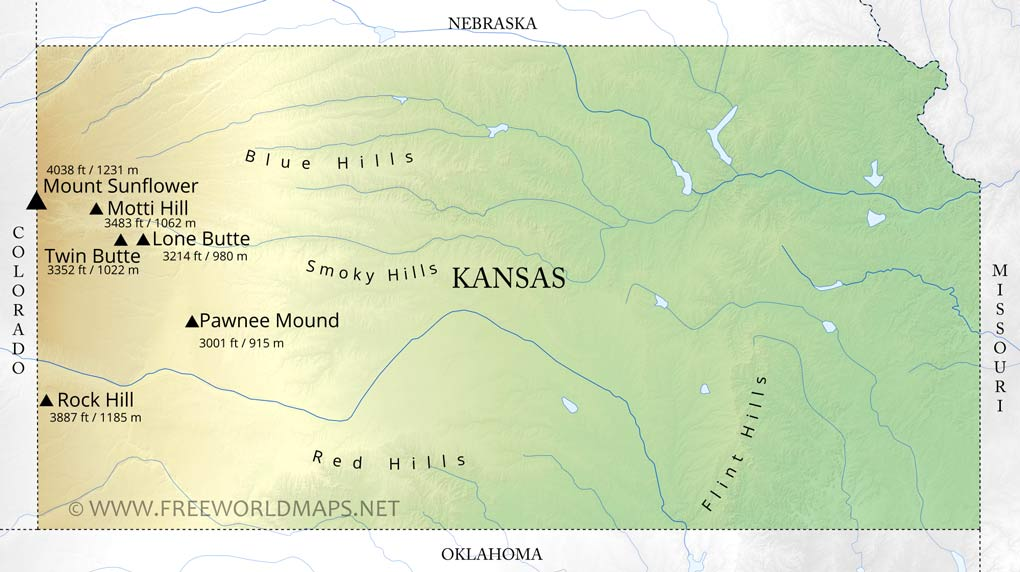 Physical map of Kansas on marshall county, wyandotte county, ellis county, wabash river map, milk river map, mackenzie river map, northern mississippi river map, louisiana state river map, arkansas river, memphis river map, texas river map, missouri river, missuri river map, franklin county, new york delaware river map, kansas city, southeastern united states river map, kansas rivers and creeks, kansas rivers and streams, quad cities river map, kansas trails, jefferson national expansion memorial, smoky hill river, kansas usa, chicago illinois river map, republican river, junction city, yellowstone river, kansas smoky hill range, kansas major rivers, vicksburg river map, western united states river map, douglas county, johnson county,