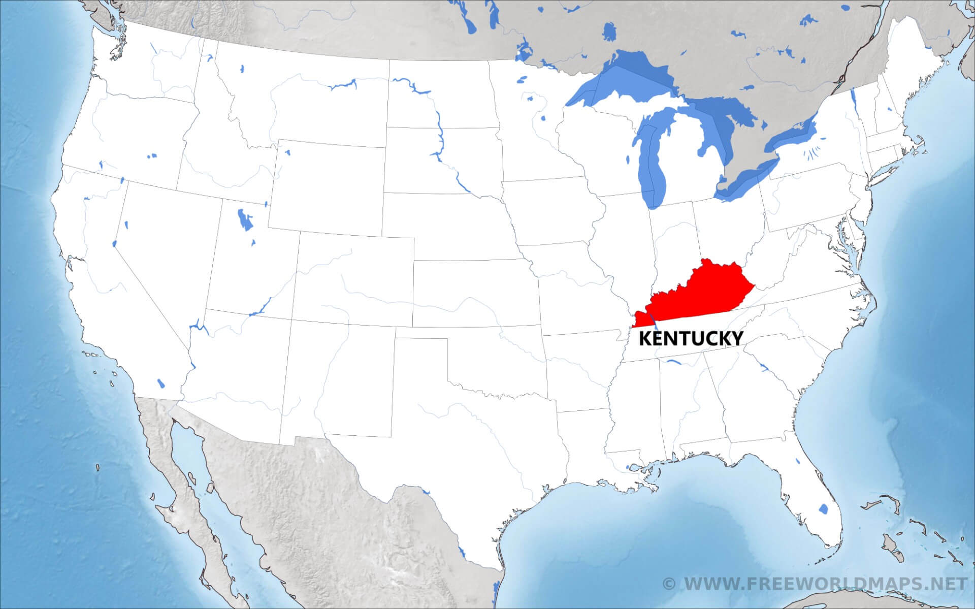 Kentucky Us Map Dehazelmuis - Kentucky-on-us-map