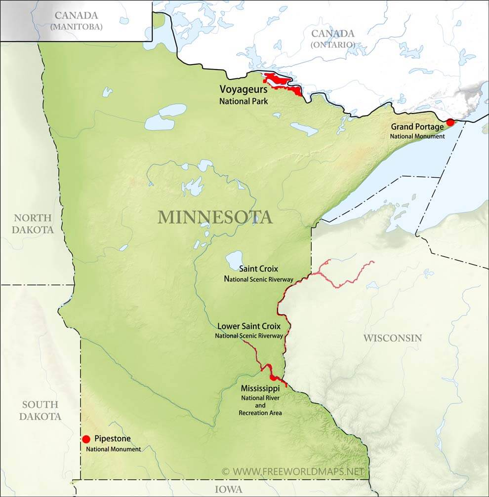 Physical map of Minnesota on staples mn map, mayer mn map, mn river map, st bonifacius mn map, bovey mn map, verndale mn map,