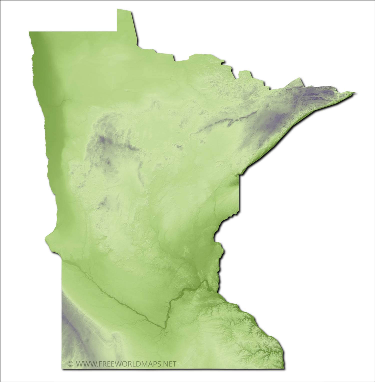 Physical Map Of Minnesota