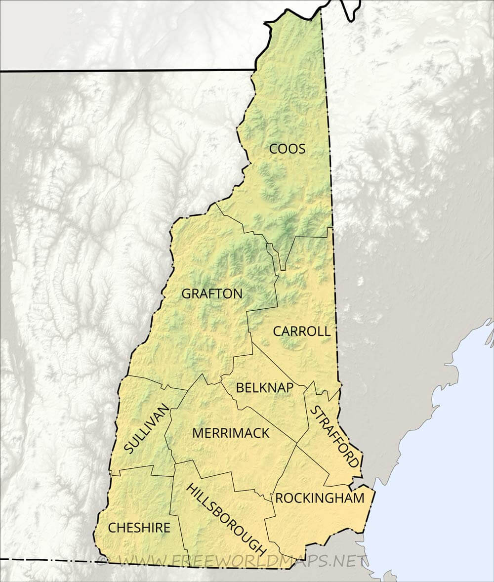 Physical map of New Hampshire on washington map, new england map, texas map, iowa map, northeast us map, mississippi map, florida map, new jersey map, michigan map, north carolina map, pennsylvania map, louisiana map, laconia map, delaware map, massachusetts map, indiana map, maryland map, illinois map, vermont map, arkansas map, minnesota map, missouri map, virginia map, nunavut map, nevada map, oregon map, wisconsin map, nebraska map, california map, rhode island map, nh map, maine map, colorado map, mass map, usa map, new york map, ohio map, montana map,