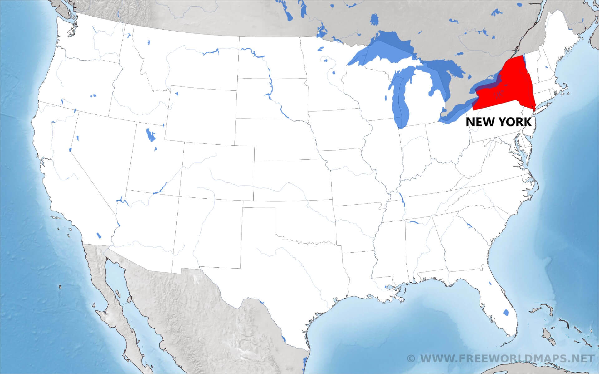 Where Is New York Located On The Map