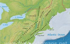 Free printable maps of the Northeastern US