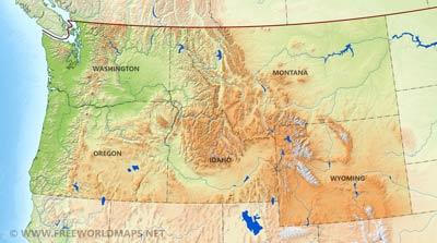 Northwestern US political map - by freeworldmaps.net