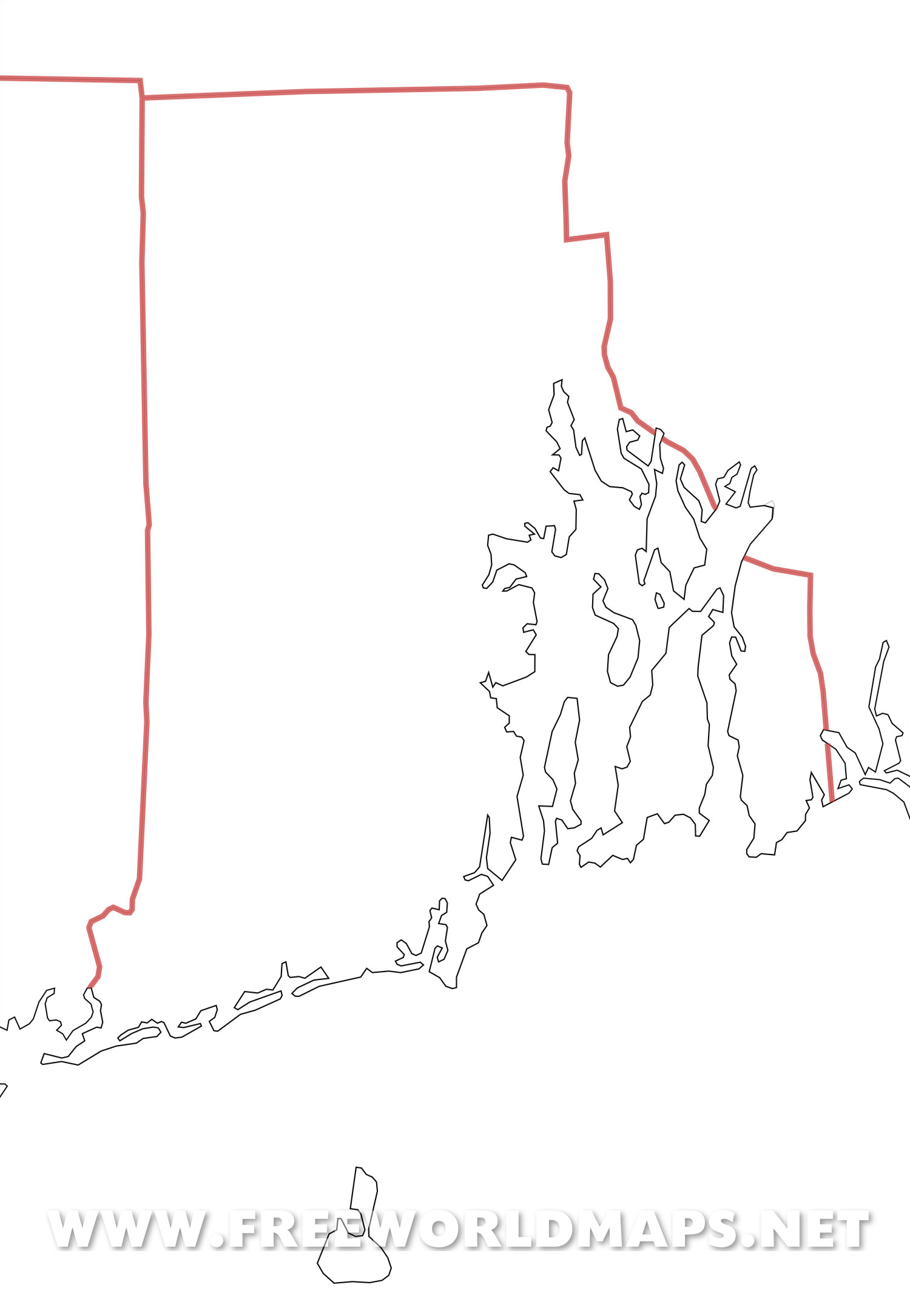 Blank Map Of Rhode Island Rhode Island maps