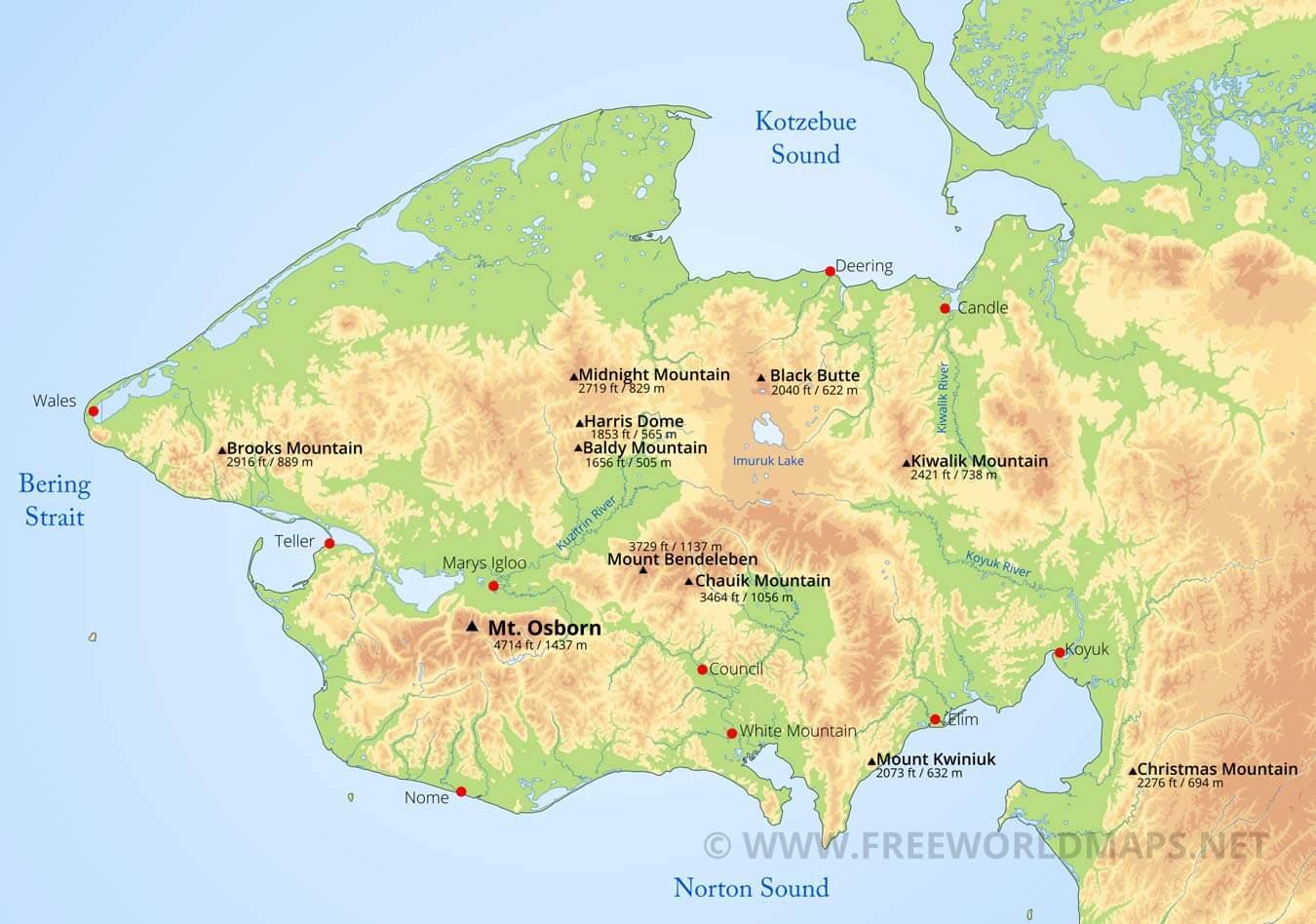 seward peninsula maps