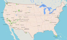 us map of mountain ranges Us Mountain Ranges Map