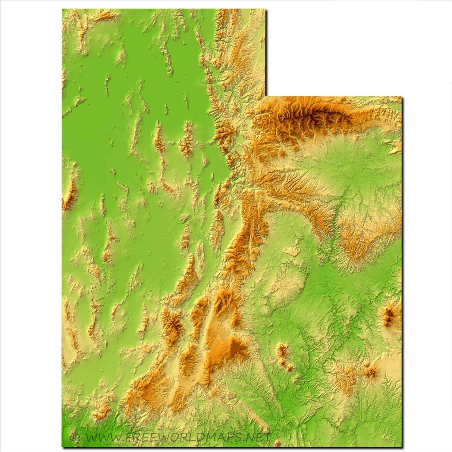 Image of: Physical Map Of Utah