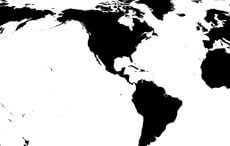 America Centric World Map