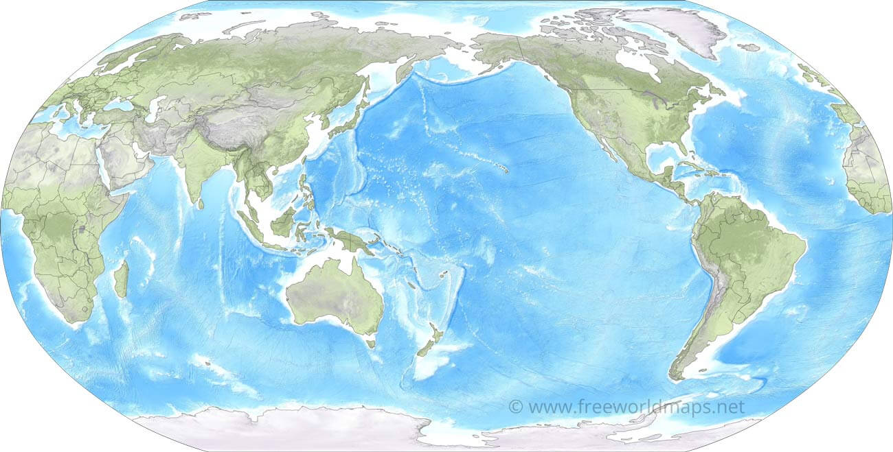 Pacific Centered World Map