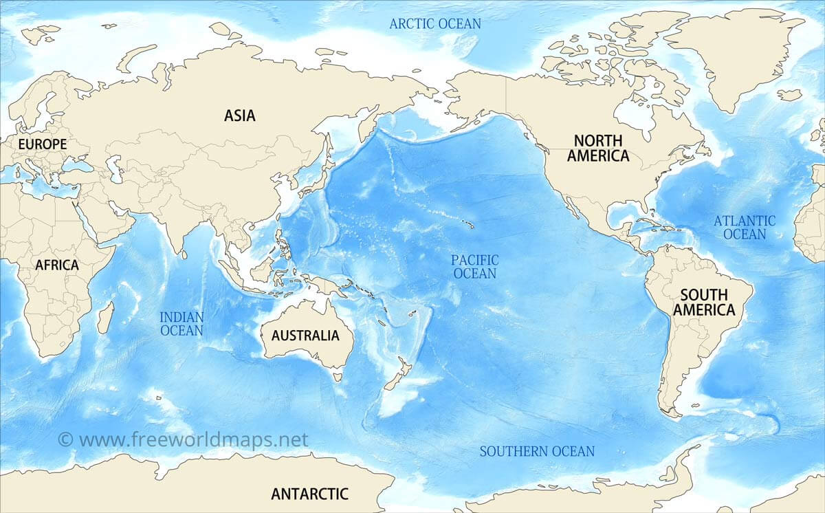 Picture of: Pacific Centered World Map